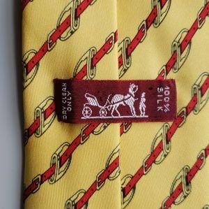 Hermes Accessories - HERMES Belt Buckle Print over Yellow Background